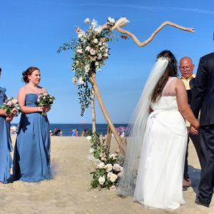 Narcissus Florals - wedding on beach